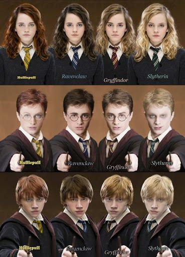 Harry  Hermione  Ron