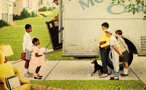 New kids in the neighbourhood, Norman Rockwell, 1967