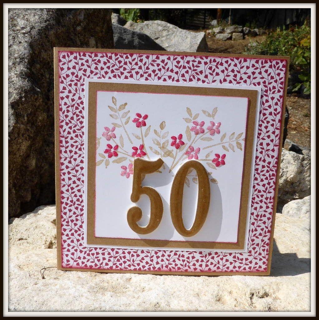 une carte anniversaire 50 ans