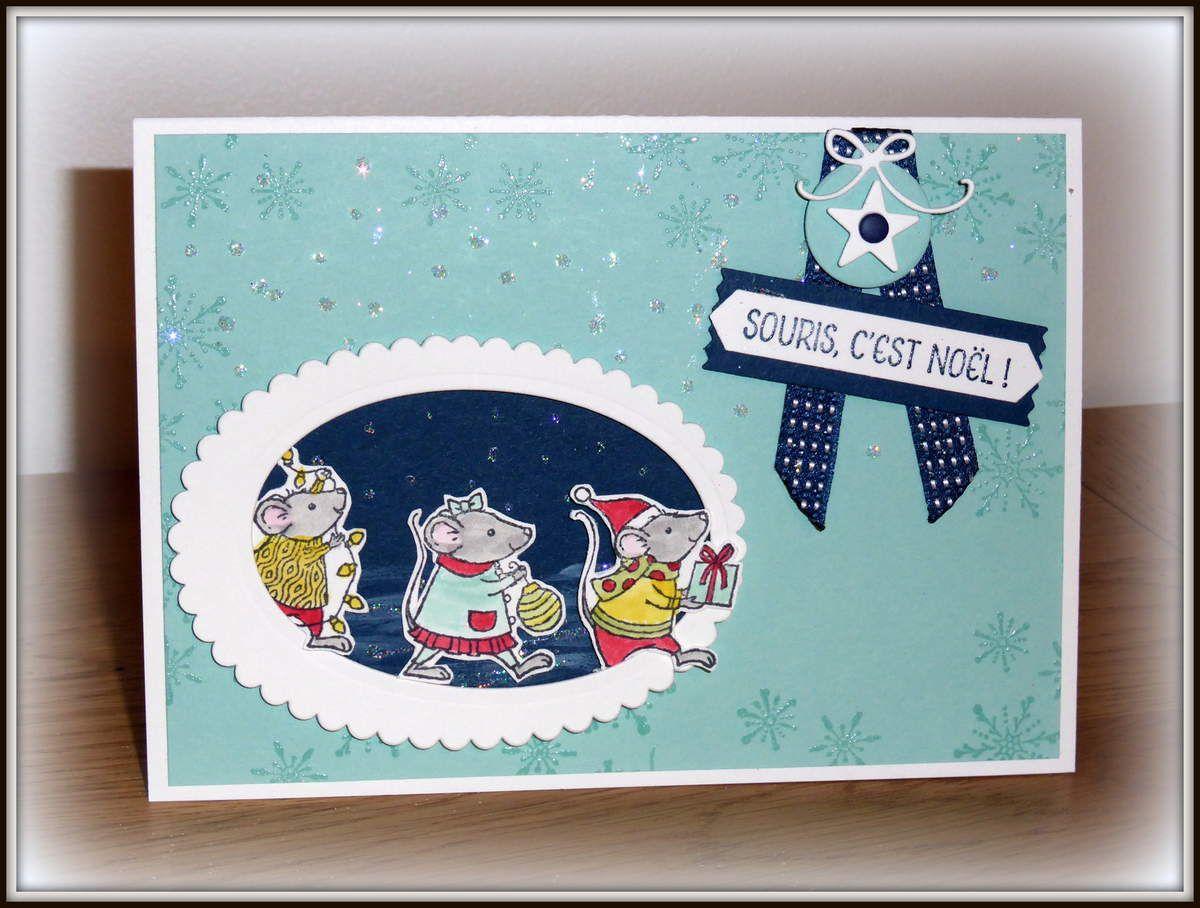 Carte de Noël avec les souris