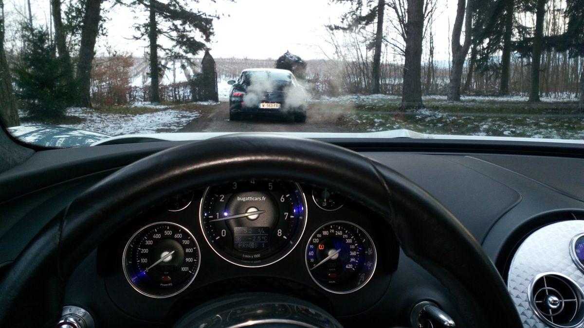 M6 TURBO à Obernai pour le tournage d'une émission spéciale Bugatti