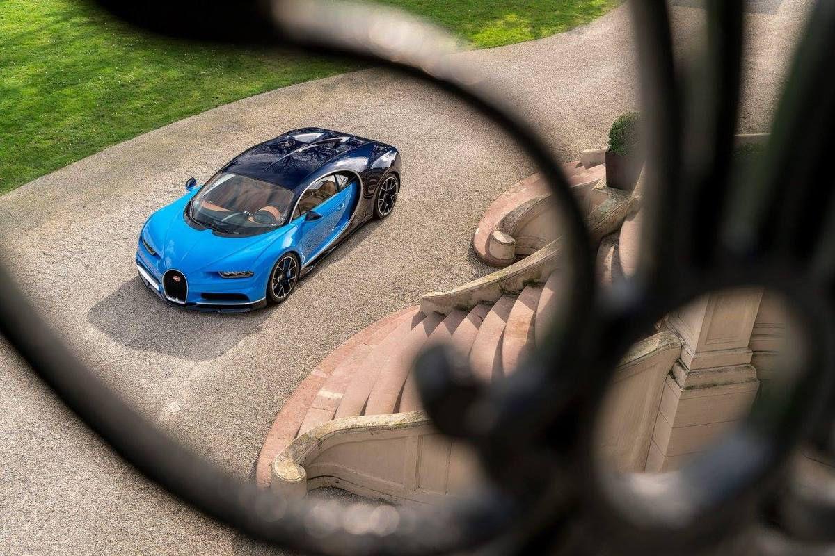 Photos de la Bugatti Chiron à Molsheim