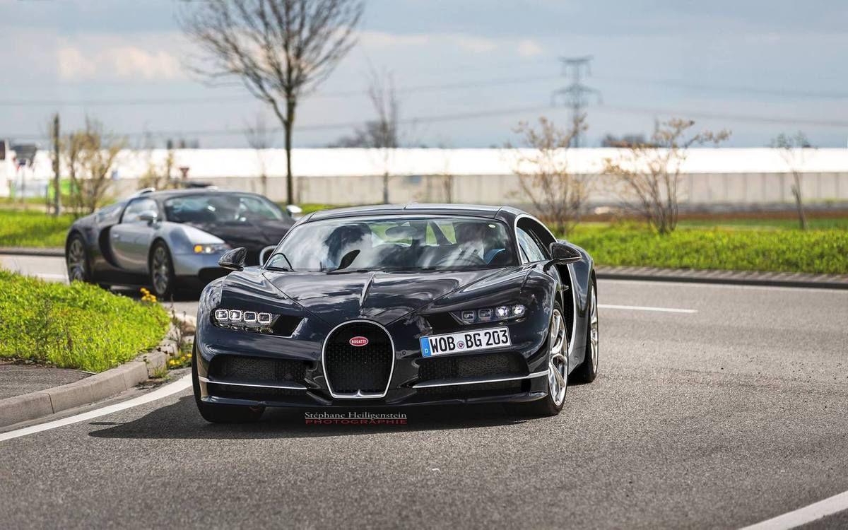 D'autres photos de la Bugatti Chiron à Molsheim