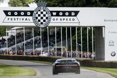 Photos officielles de la Bugatti Chiron à Goodwood