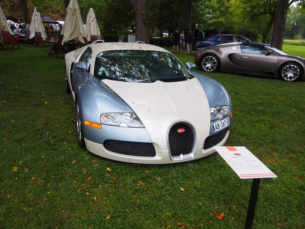 Les Bugatti Veyron présentes à Arts et Elégance 2016 à Chantilly