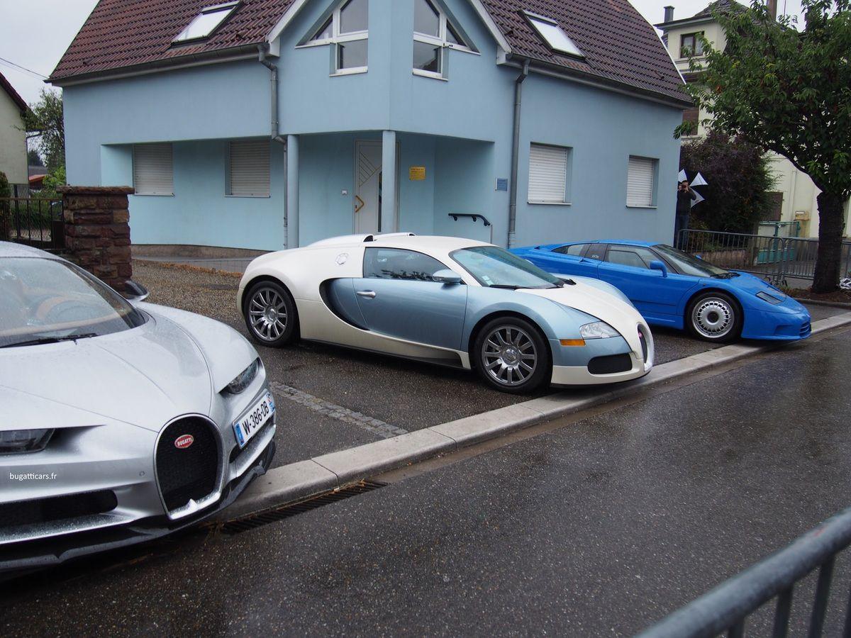 Chiron, Veyron et EB110 au Festival Bugatti 2016