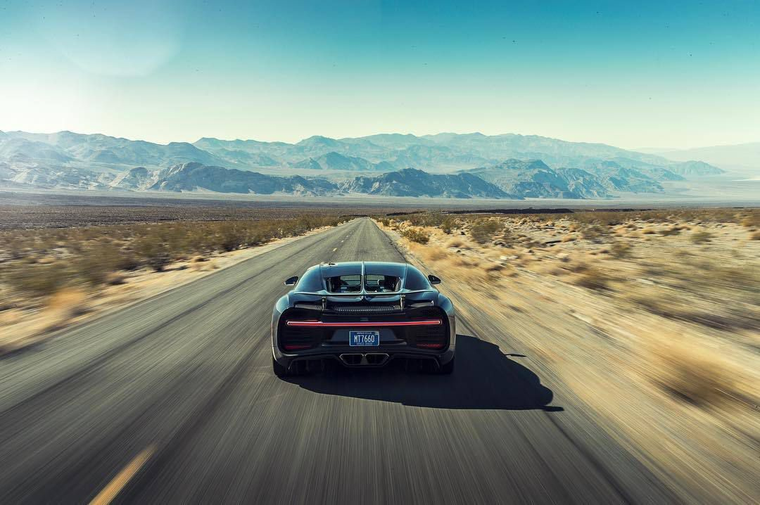 Poursuite des tests de mise au point de la Bugatti Chiron