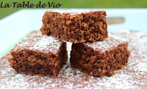 Gâteau moelleux chocolat / noix de coco
