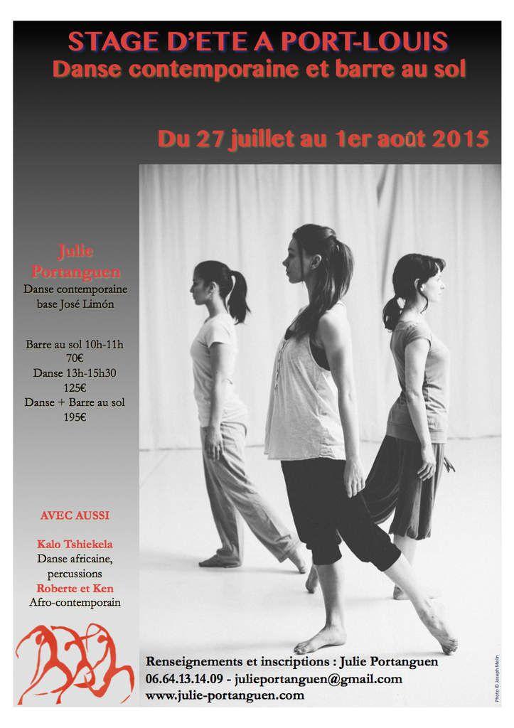Stage de danse contemporaine juillet 2015