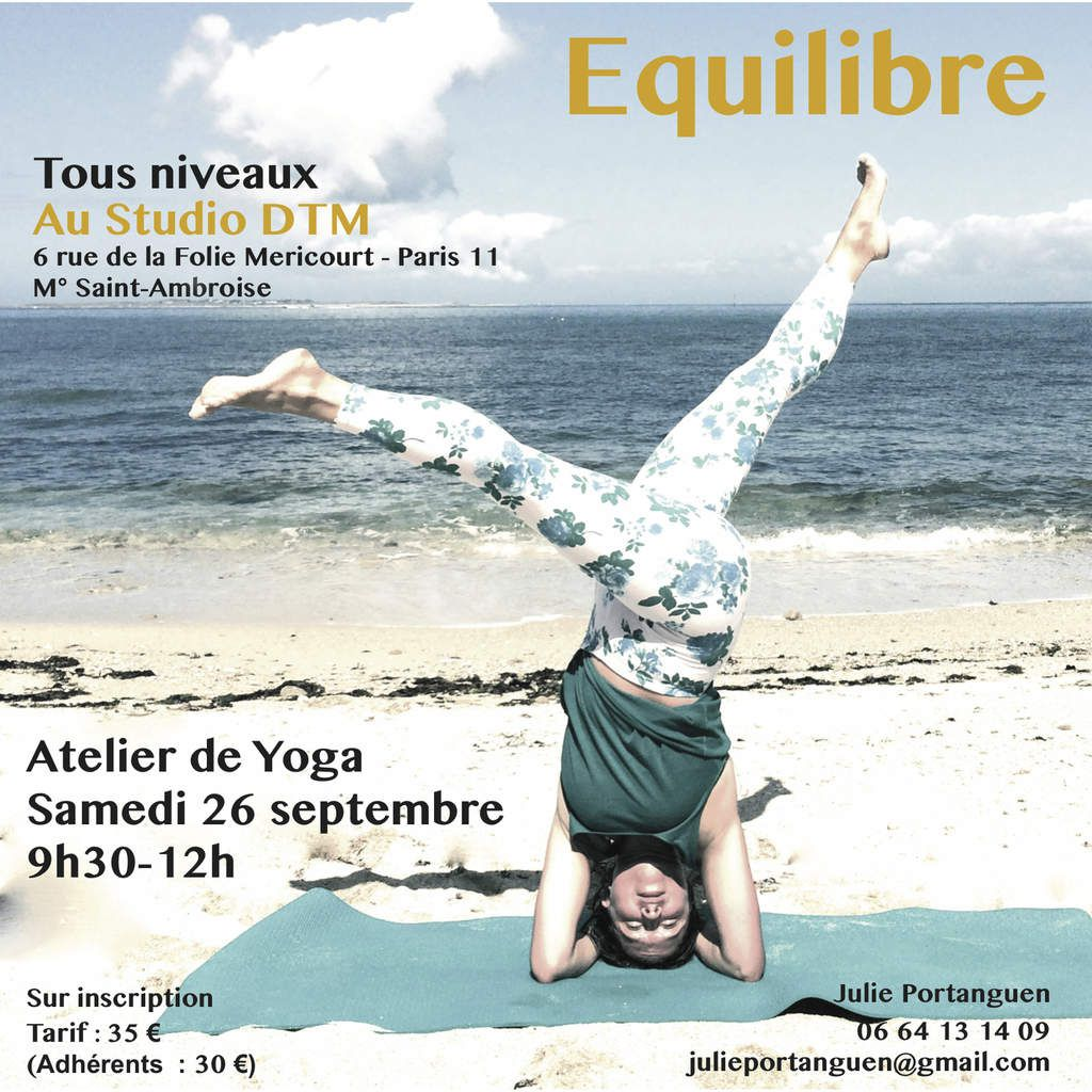Cours de yoga à Paris Atelier de Yoga le samedi à Paris Julie Portanguen Paris 11