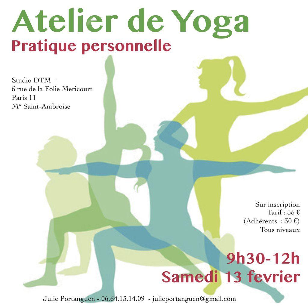 Atelier Yoga sur la pratique personnelle