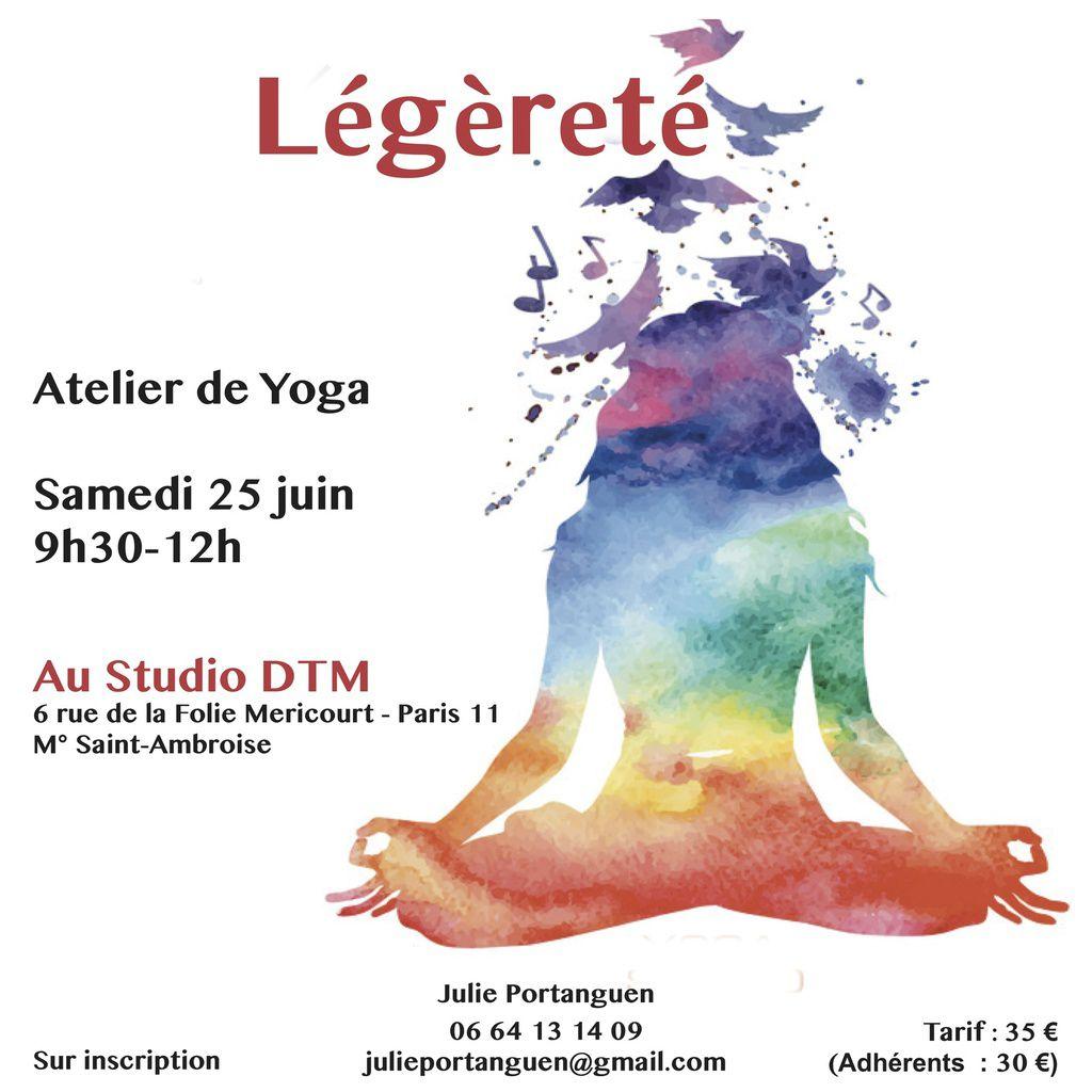 Atelier de yoga &quot&#x3B;Légèreté&quot&#x3B; - Samedi 25 juin