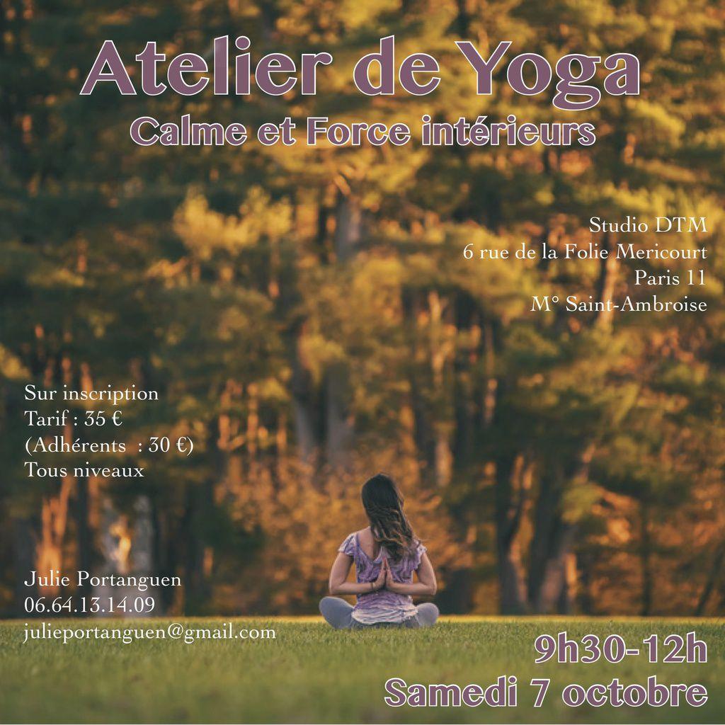 Atelier de yoga pour entrer dans l'automne avec calme et force
