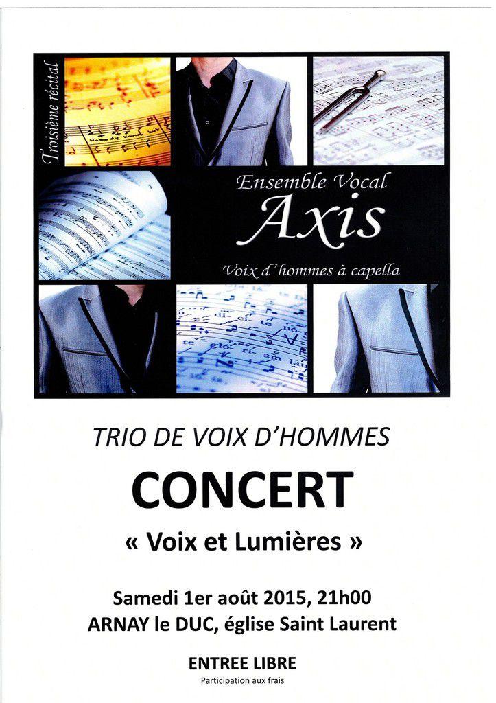Concert du Trio Axis, Samedi 1er Août