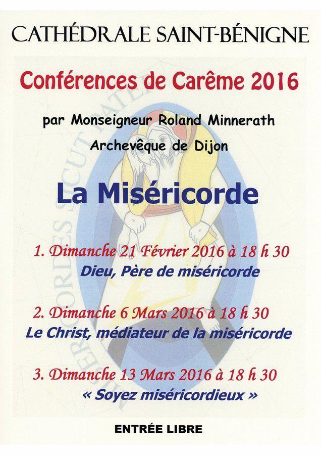 Conférences de carême de Monseigneur Minnerath