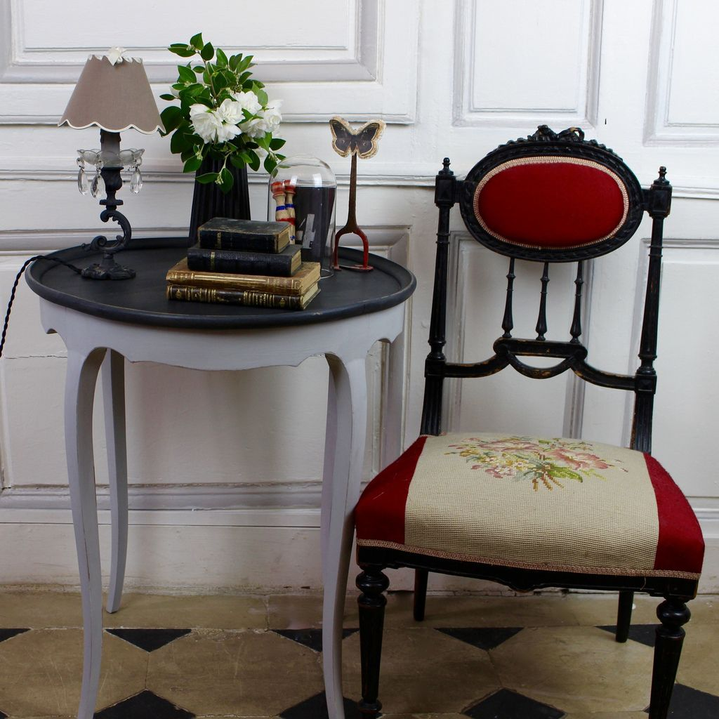 table basse louis xvi patine grise et noire patine et gaufre blog d coration de charme. Black Bedroom Furniture Sets. Home Design Ideas