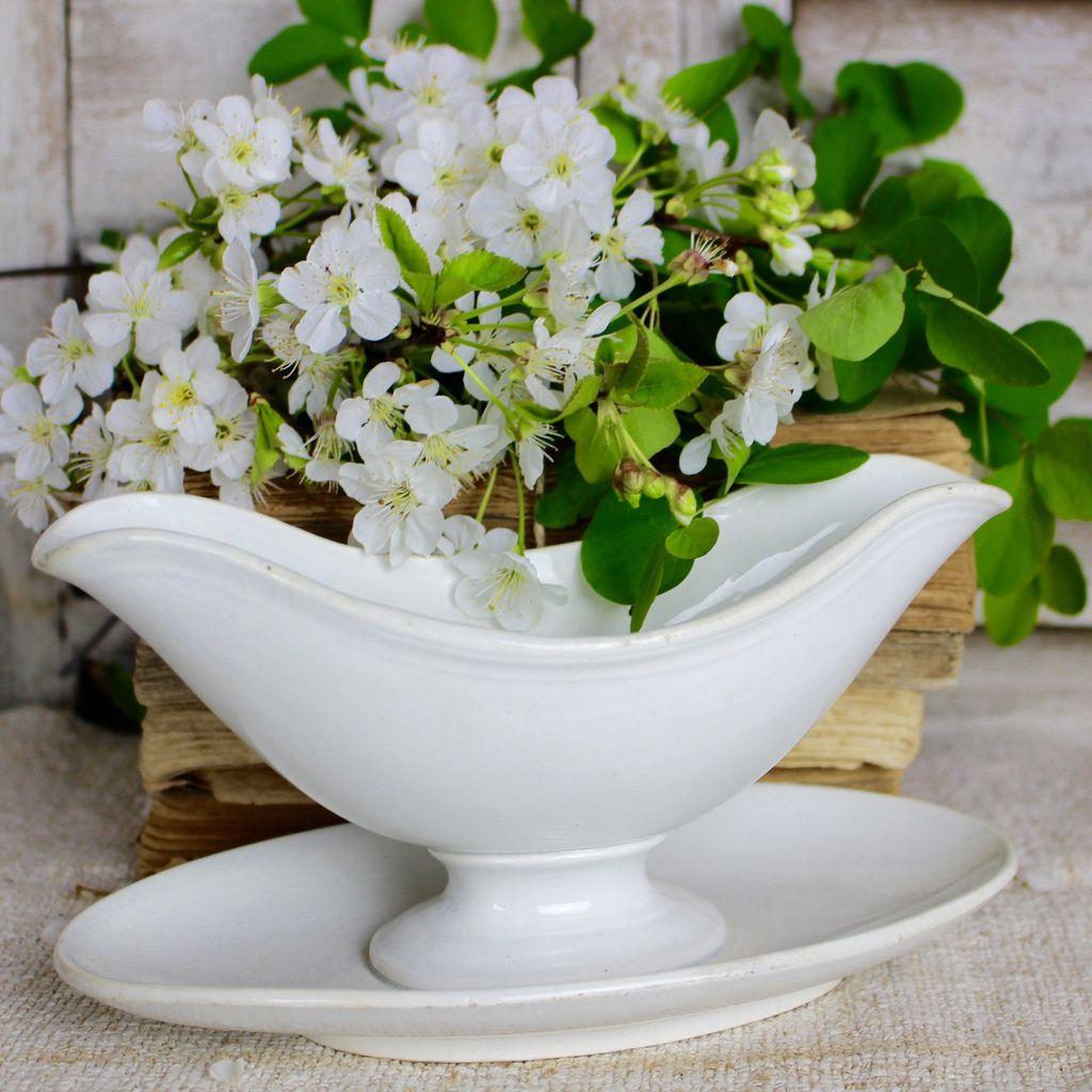 saucier en porcelaine blanche Manufacture de Creil Montereau