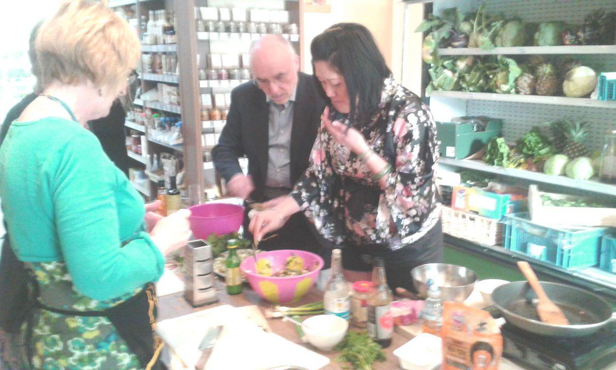 #Vege : Cours de cuisine végétalienne de Li Wang