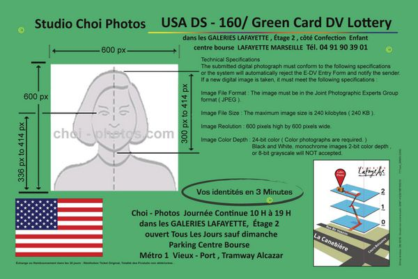 Le photographe du Studio Choi Photos est le spécialiste de la photo au format #5x5 pour la #DV_Lottery ou #Green_Card