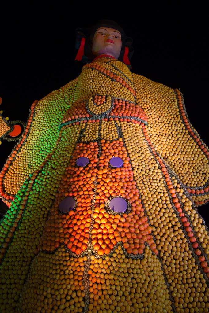Menton - fête du citron - jardins biovès la nuit
