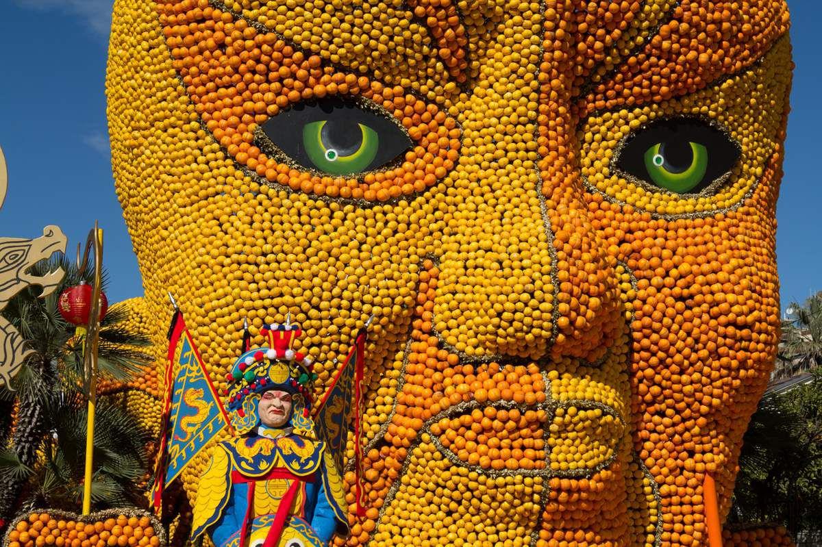 Menton - fête du citron - jardins biovès de jour