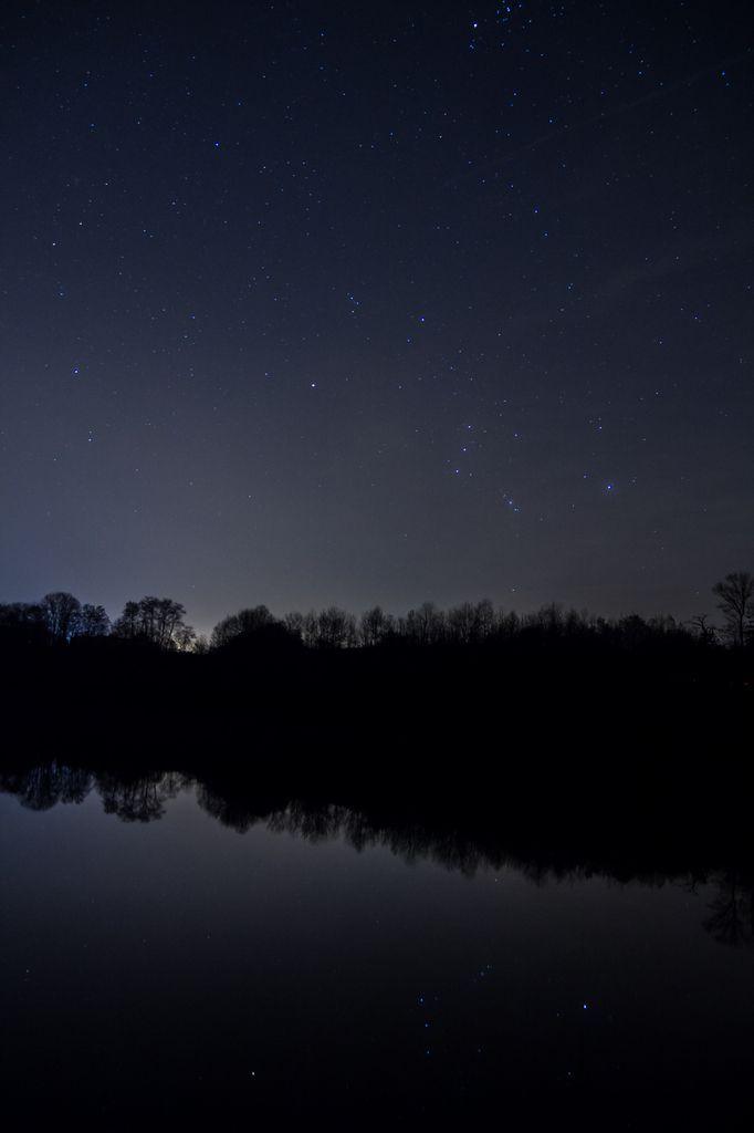 Coucher de soleil et nuit étoilée sur les étangs de l'Ouest Lyonnais