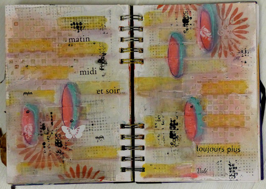 Des pages d'Art journal