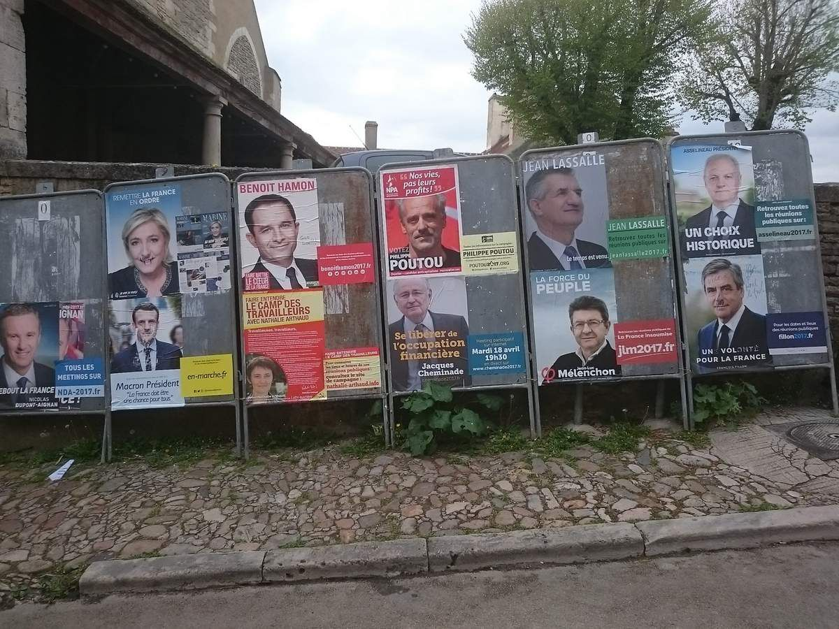 Les résultats des élections présidentielles à Vézelay