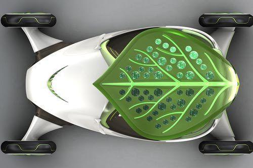 Objets du futur - une automobile végétale...