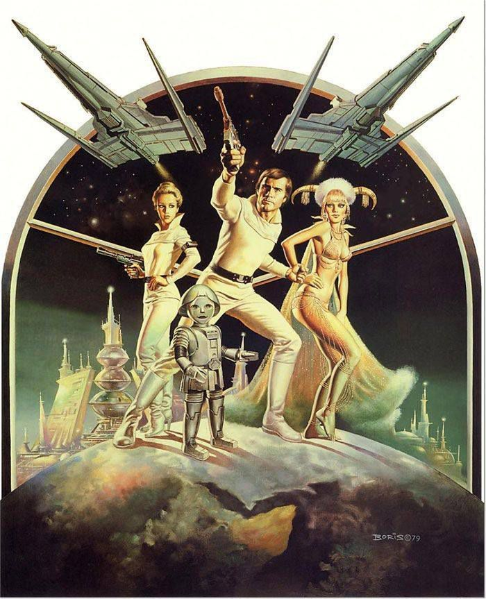Buck Rogers, illustration de Boris Vallejo de 1979 et flipper !