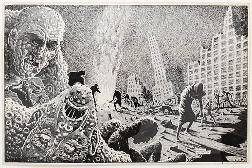 Illustrations de Basil Wolverton, un optimiste...