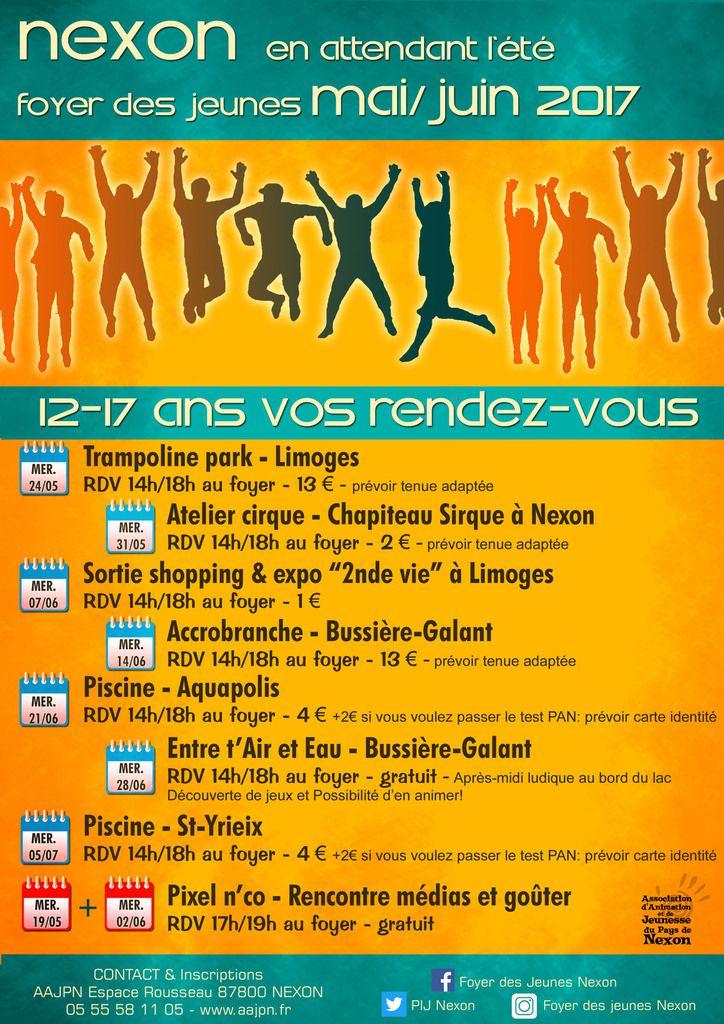 12-17ans - vos prochains rendez-vous avec le foyer des jeunes