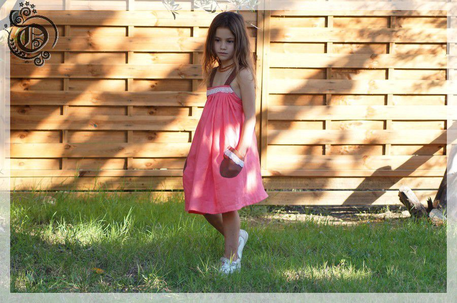 Robe chasuble corail