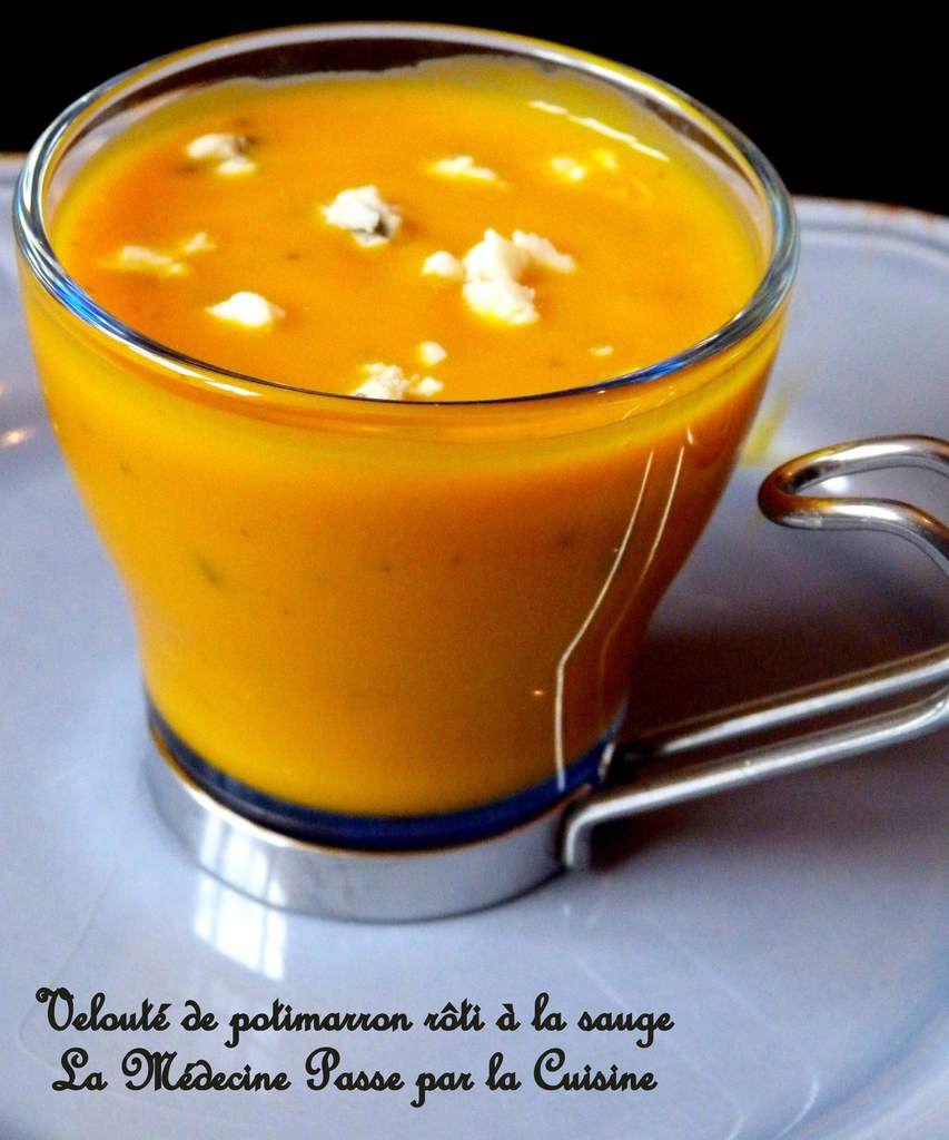 Crème de courge kabocha (potimarron vert) à la sauge