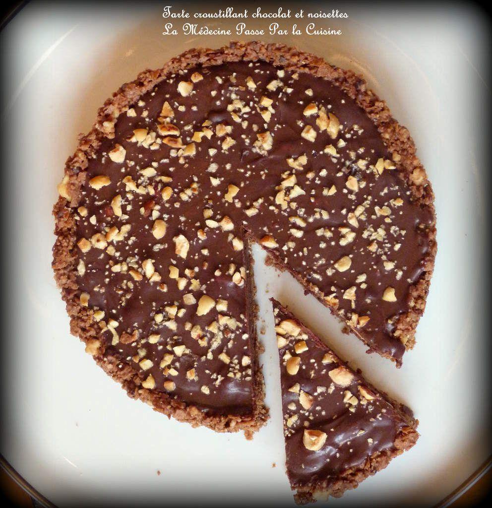 Tarte croustillante chocolat et noisettes en 15 minutes et sans four