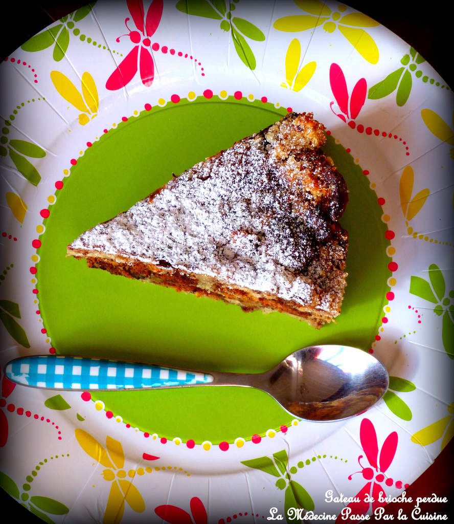 Gâteau de brioche perdue au chocolat