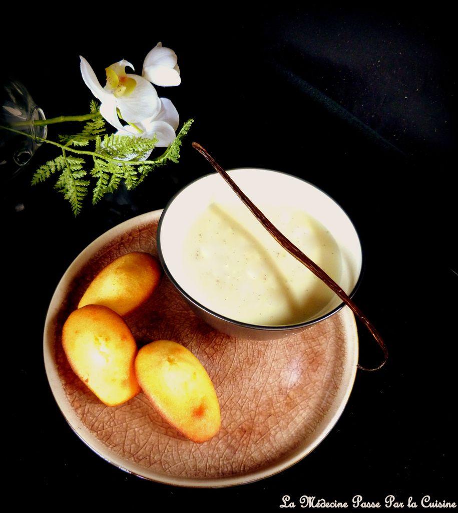 Lait chaud vanillé au chocolat blanc