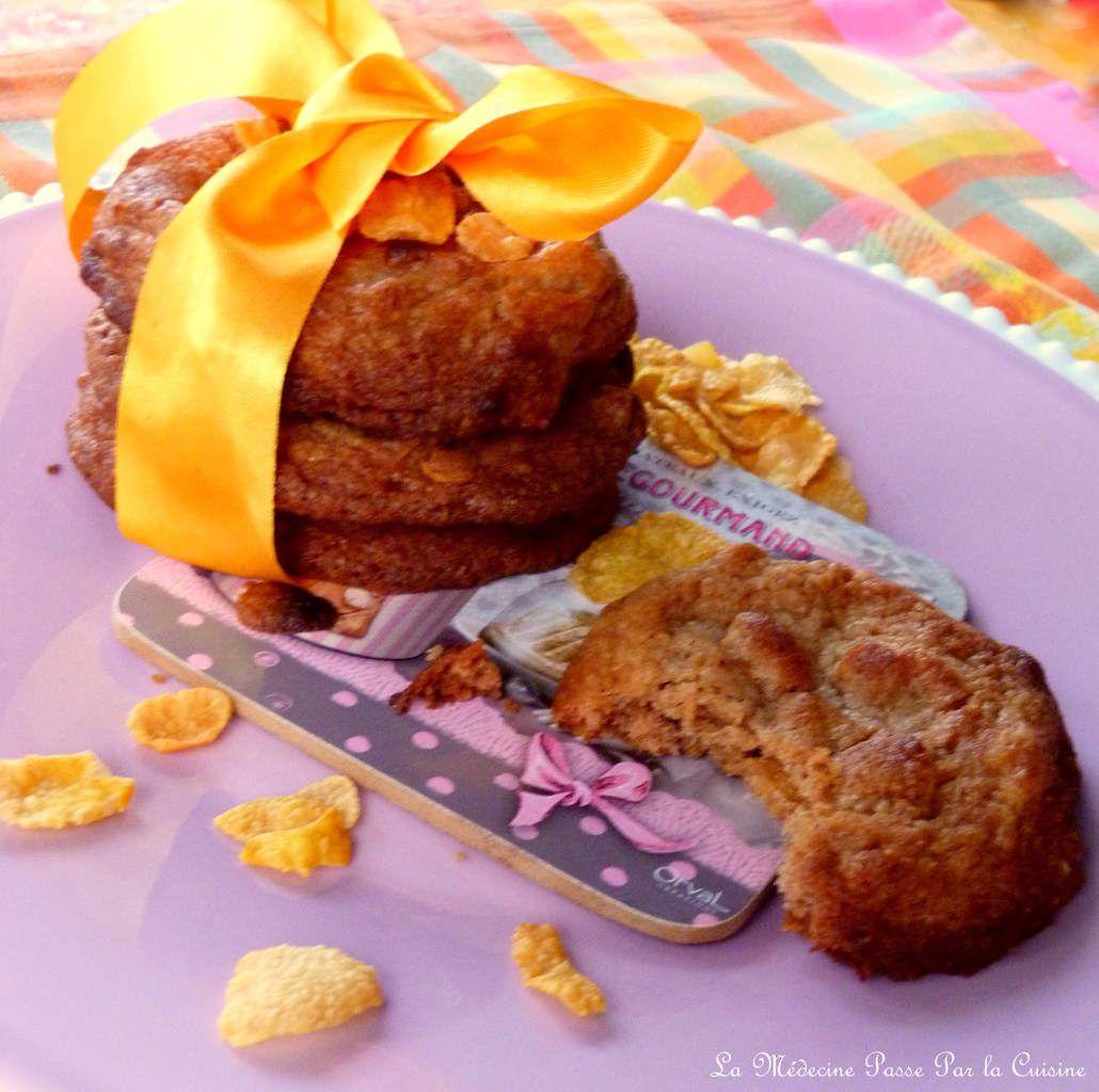 Les astuces pour réussir vos cookies et une recette de cookies au chocolat praliné et corn flakes