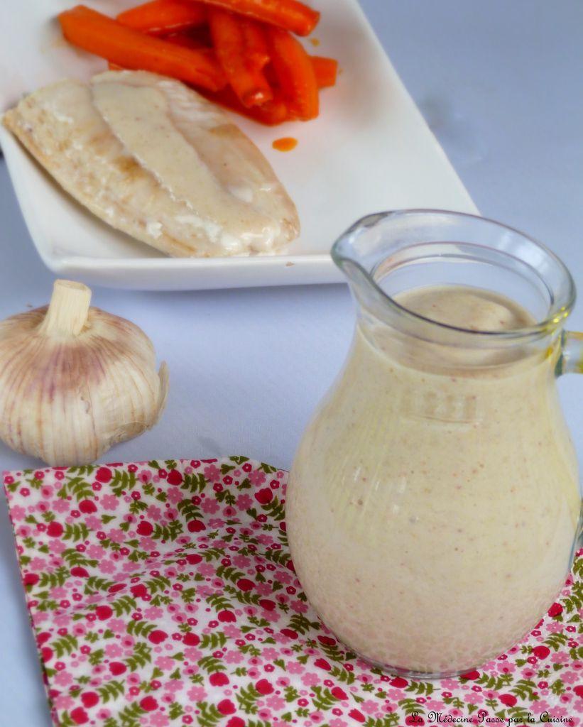 Crème d'ail et de sarrasin pour poissons - Défi Cuisine Poissons d'Avril
