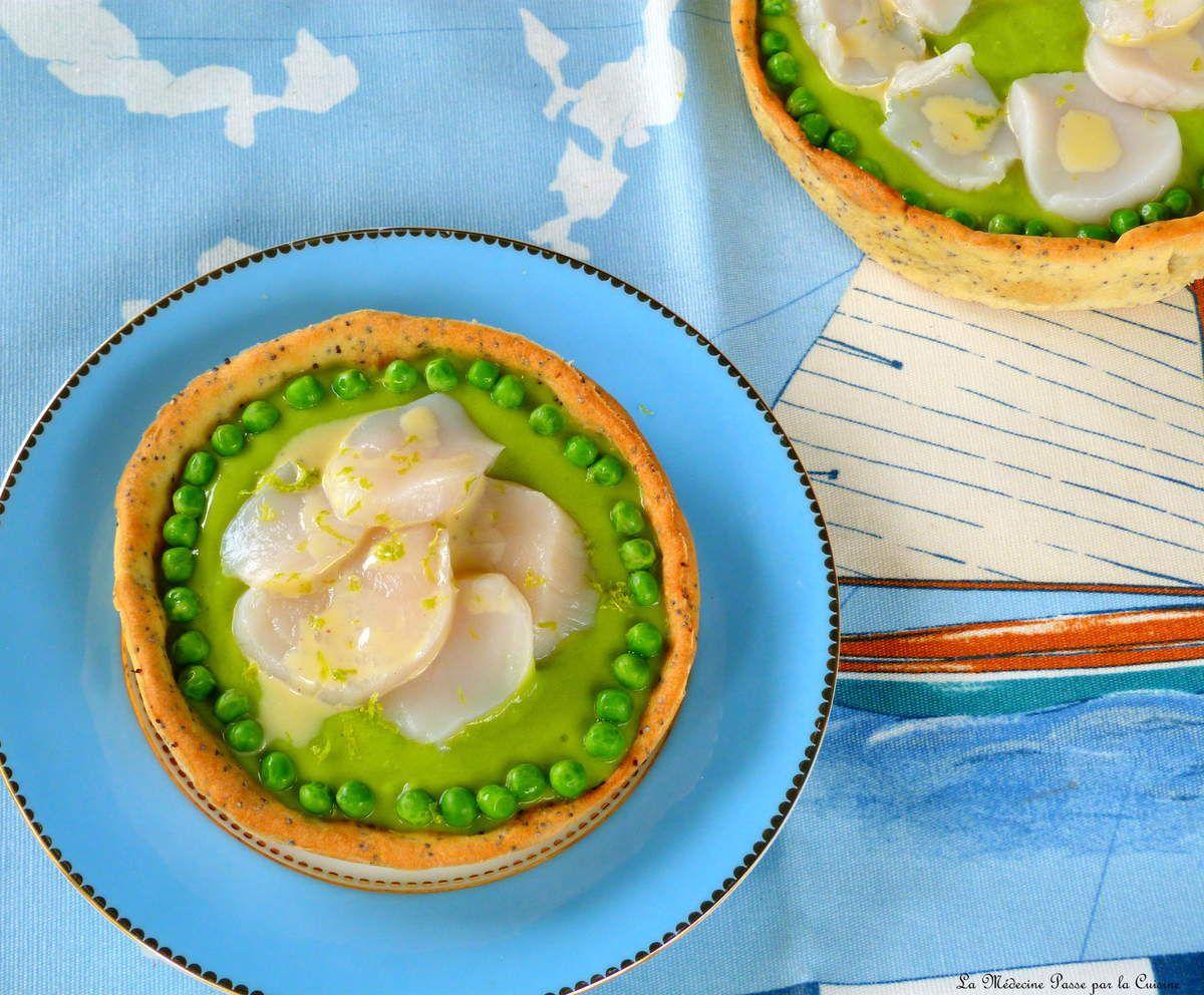 Tartelettes printanières, saint jacques et &quot&#x3B;vinaigrette&quot&#x3B; au fruit de la passion