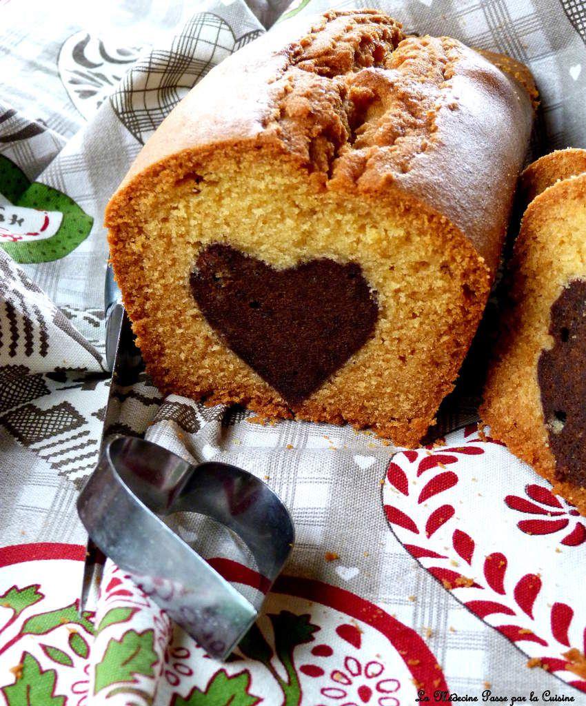 Cake au coeur de brownie
