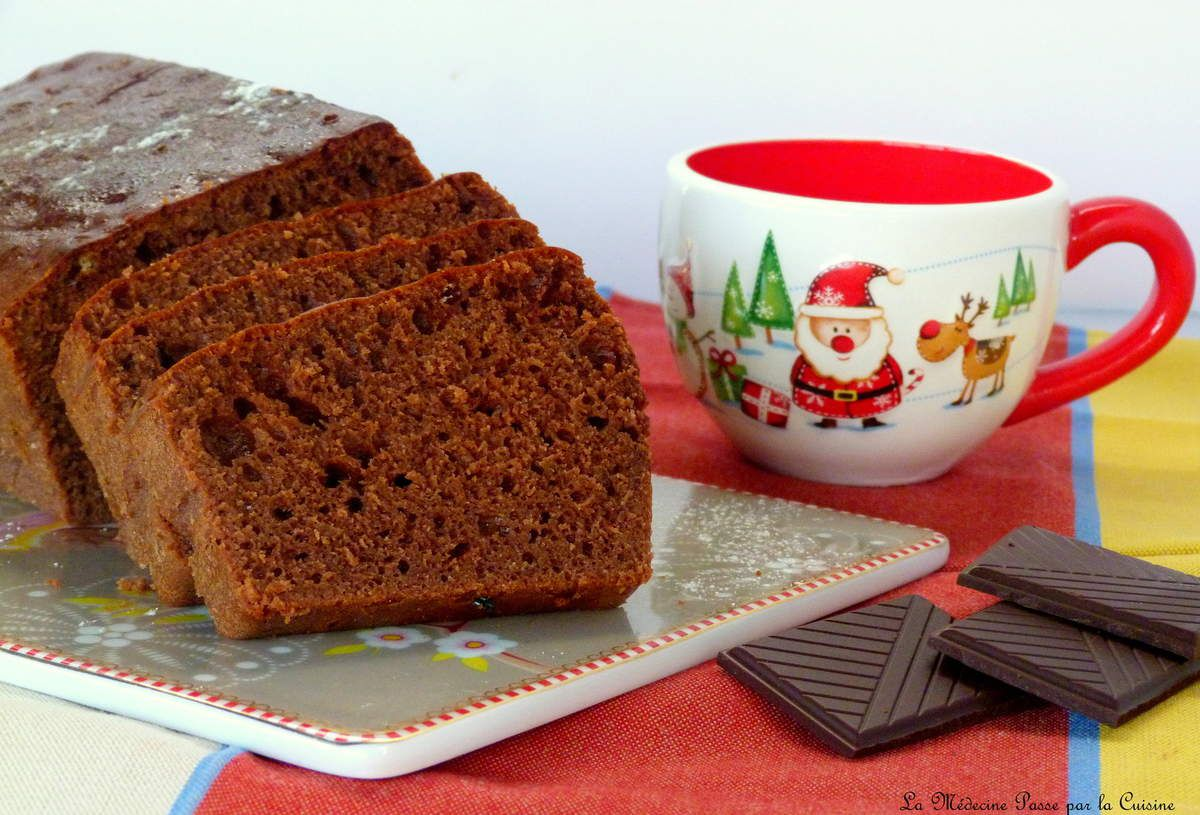 Cake au chocolat, courgettes et sirop d'agave