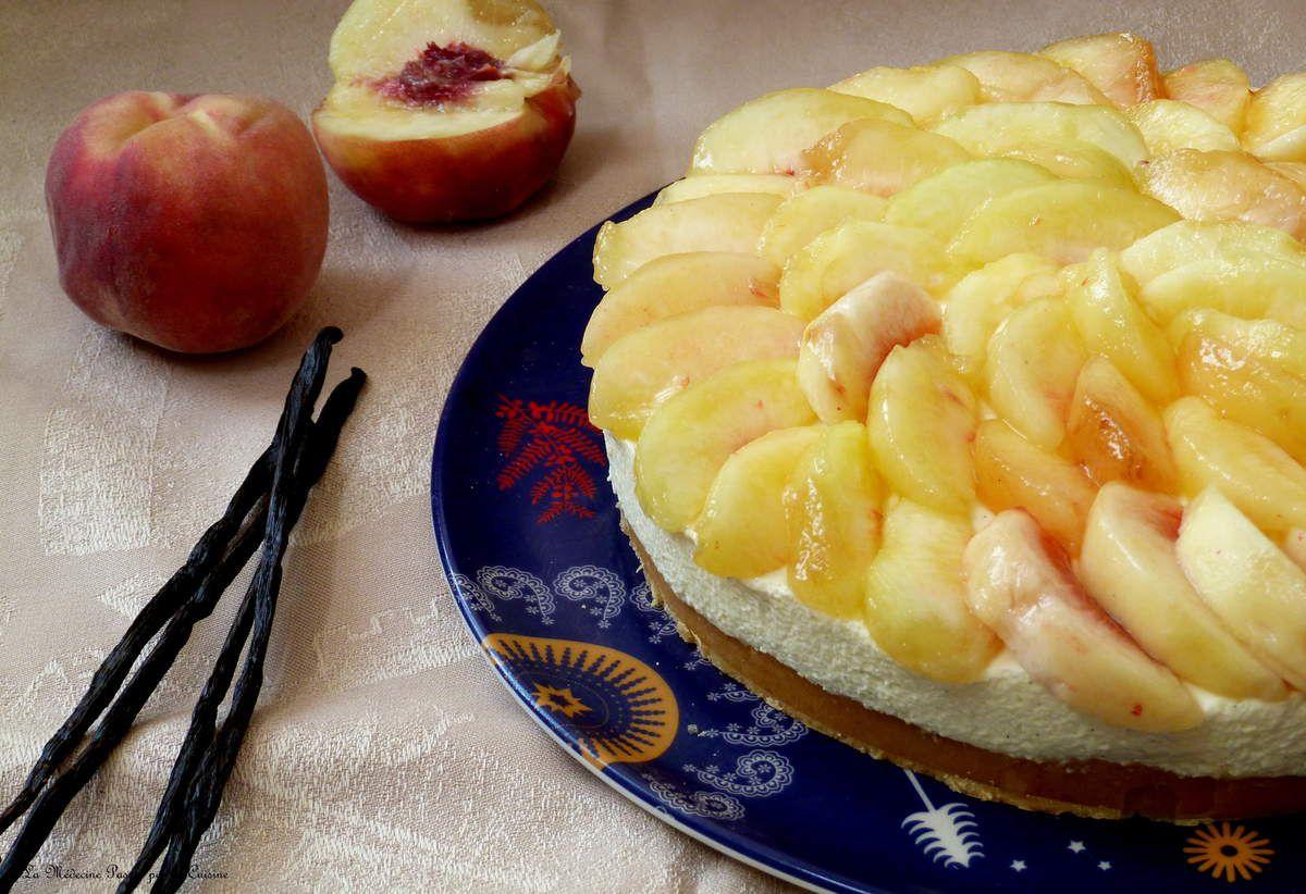 Cheesecake pêche et vanille des îles Tonga