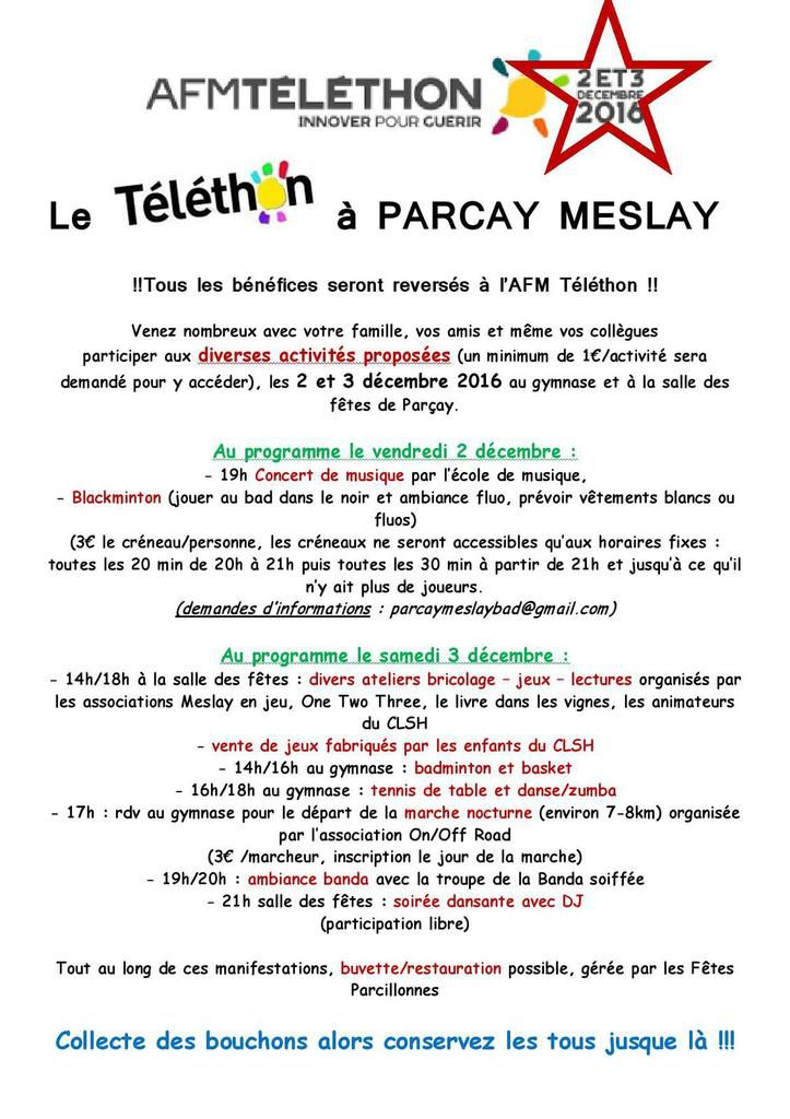 2 et 3 decembre / week end telethon / Don en ligne