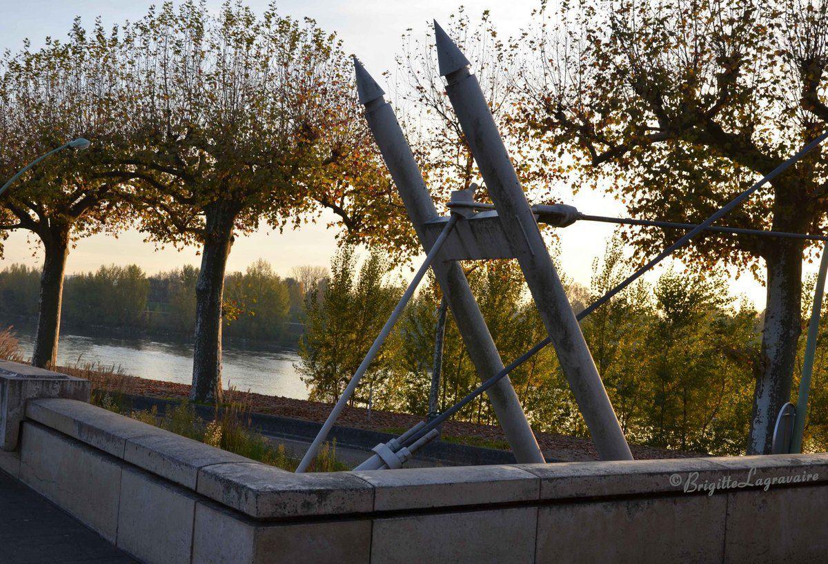 Agen - Soir de novembre sur le Gravier