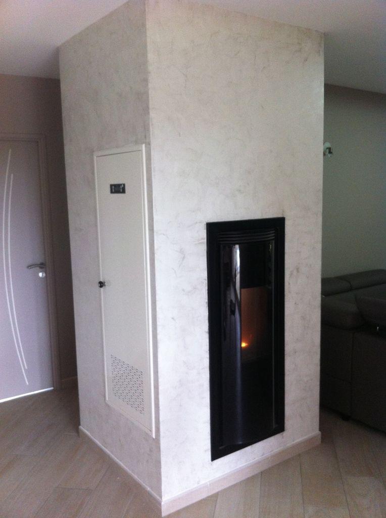 habillage insert placo entourage cheminee inox habillage insert habillage chemine moderne. Black Bedroom Furniture Sets. Home Design Ideas