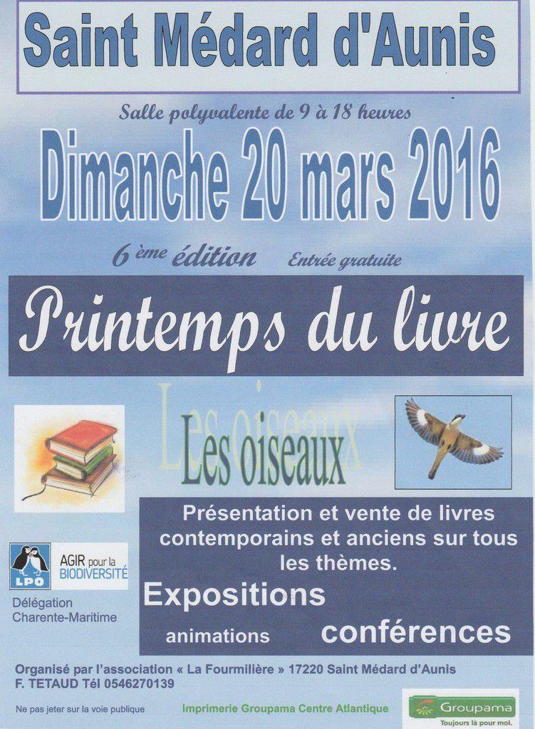 6 ème Printemps du Livre de Saint Médard d'Aunis