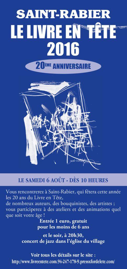 SALON DU LIVRE DE SAINT-RABIER LE 6 AOUT 2016