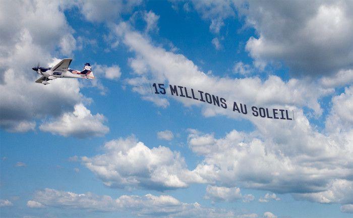Une bannière dans le ciel de La Rochelle pour annoncer mon dernier livre
