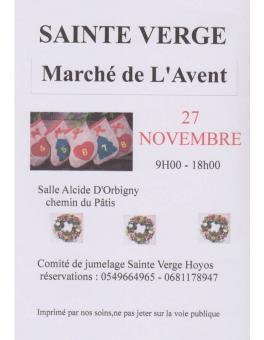 MARCHE DE L'AVENT LE DIMANCHE 27 NOVEMBRE 2016 A SAINTE VERGE